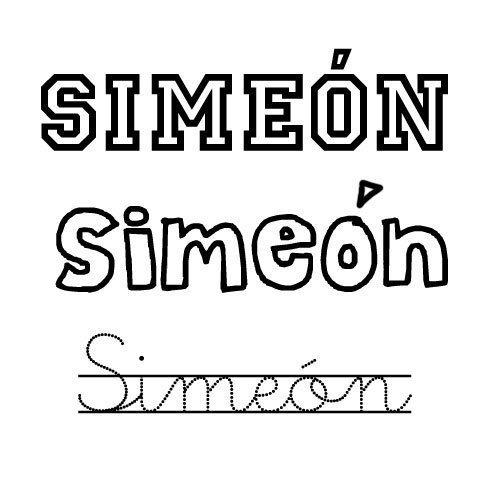 Simeón. Nombre de santo para niño