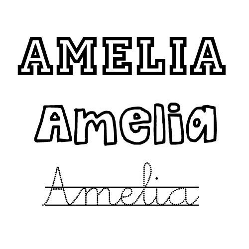 Amelia. Nombre de niña para bebés