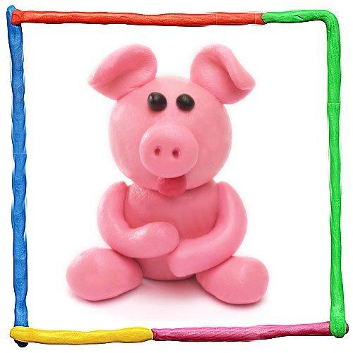 Imagen de cerdito de plastilina