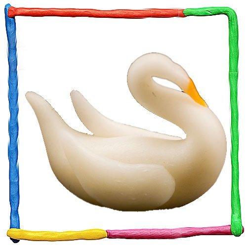 Cisne de plastilina para niños