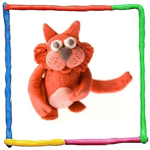 Imagen de gato de plastilina