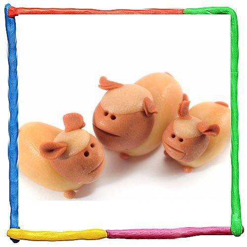 Oveja de plastilina. Animales de granja