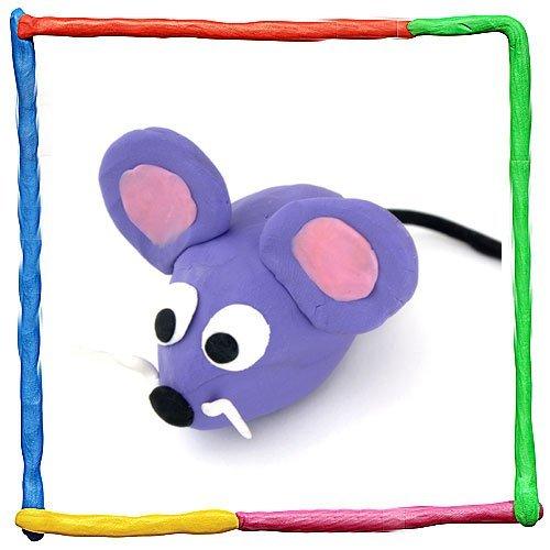 Ratón de plastilina. Animales de granja
