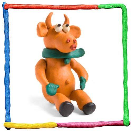 Imagen de vaca de plastilina