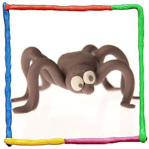 Araña de plastilina. Animales de la selva