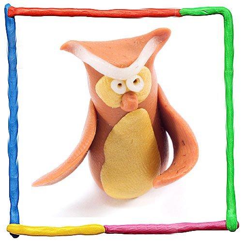 Búho de plastilina para niños