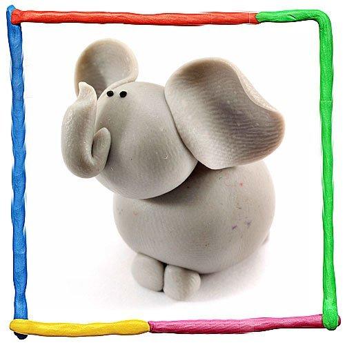 Elefante de plastilina para niños