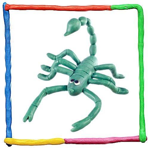 Escorpión de plastilina para niños