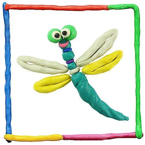 Libélula de plastilina para niños