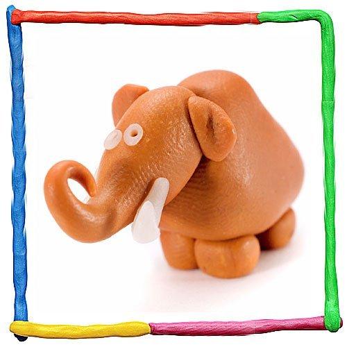 Mamut de plastilina. Manualidad de animales