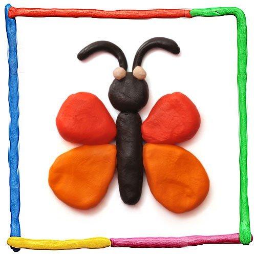 Mariposa de plastilina para niños