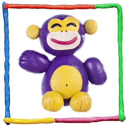Mono de plastilina. Animales de la selva