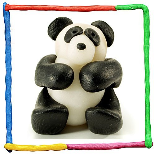 Panda de plastilina. Animales de la selva