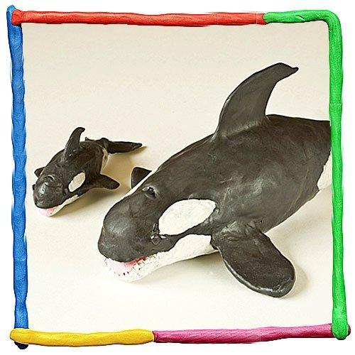 Orca de plastilina. Animales del mar