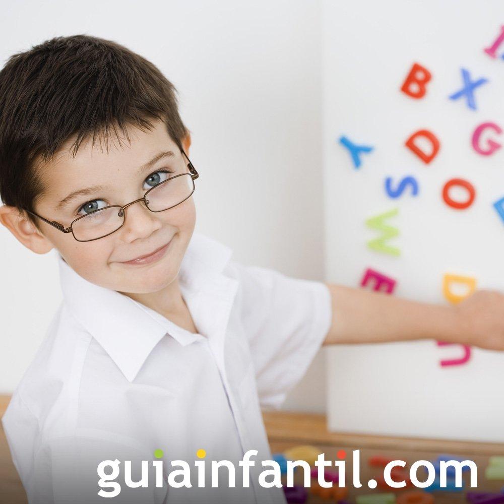 Las letras magnéticas para aprender el alfabeto