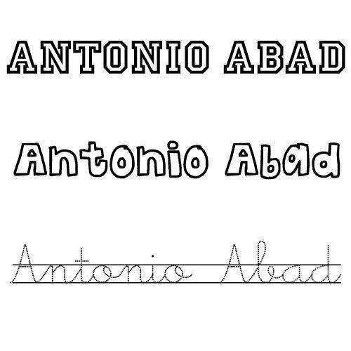 Antonio Abad. Nombre para niños