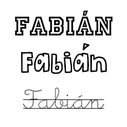 Fabián. Nombre para niño