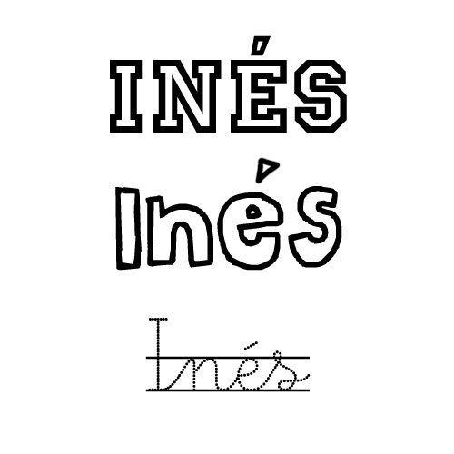 Inés. Nombre para niña