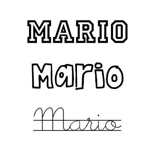Mario. Nombre para niño