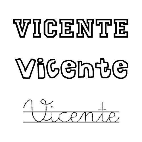 Vicente. Nombre para niño