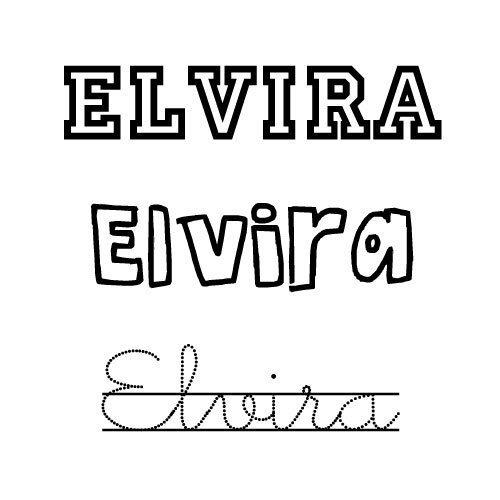 Elvira. Nombre para niña