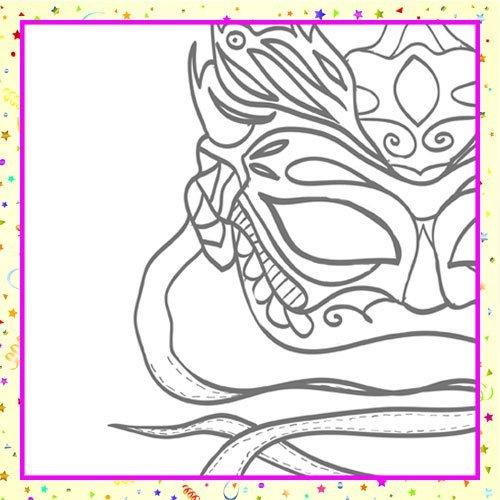 Máscara veneciana para y colorear con los niños