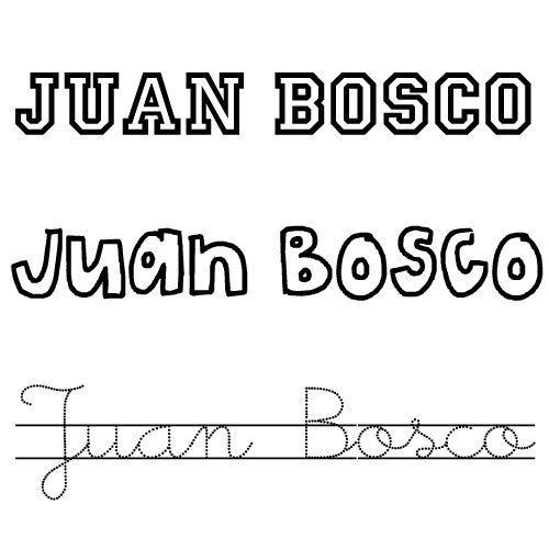 Juan Bosco. Nombres para niños
