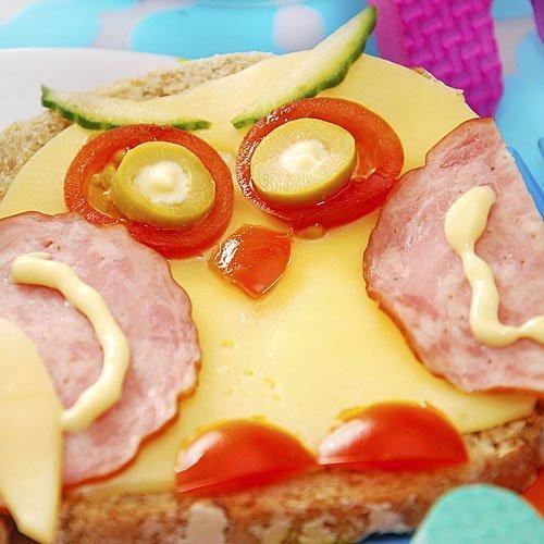 Sándwich de búho para niños