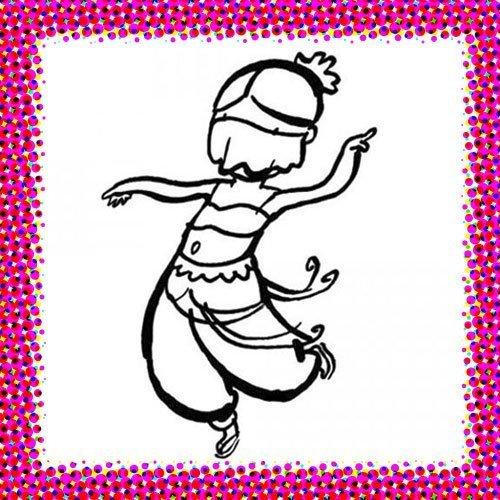 Disfraz de bailarina para colorear