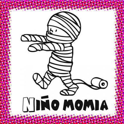Disfraz de momia para colorear en Carnaval
