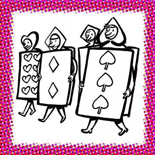 Disfraz de naipe para colorear en Carnaval