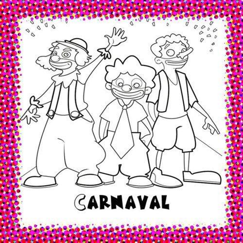 Payados en carnaval para colorear