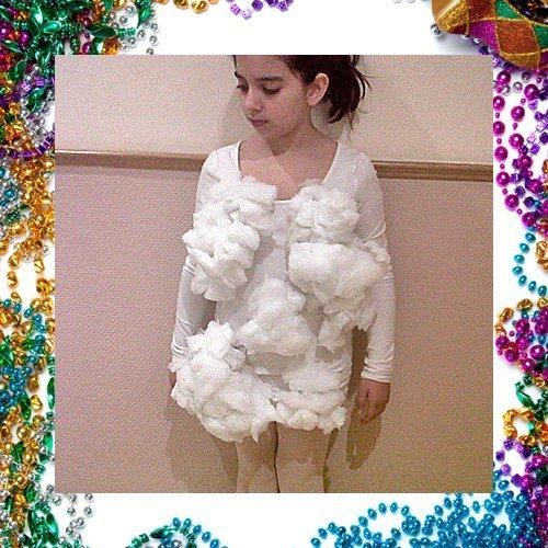 Disfraz casero de nube para niños