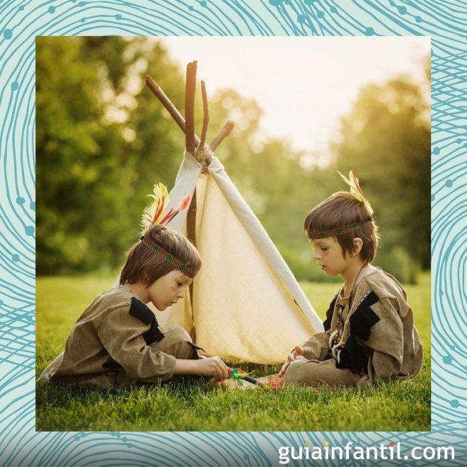 Disfraz casero de índio para niños