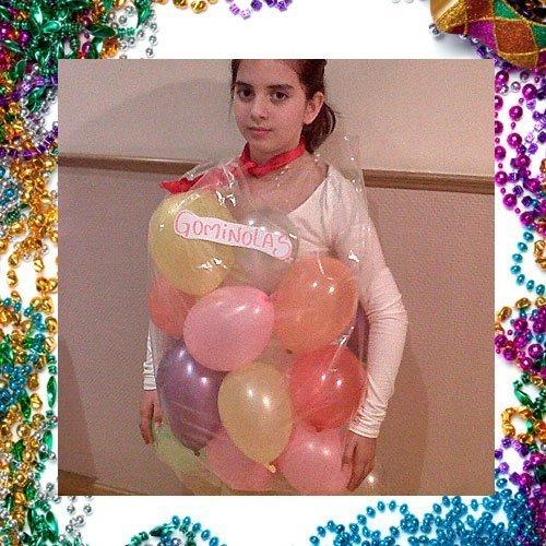 Disfraz casero de golosinas para niños