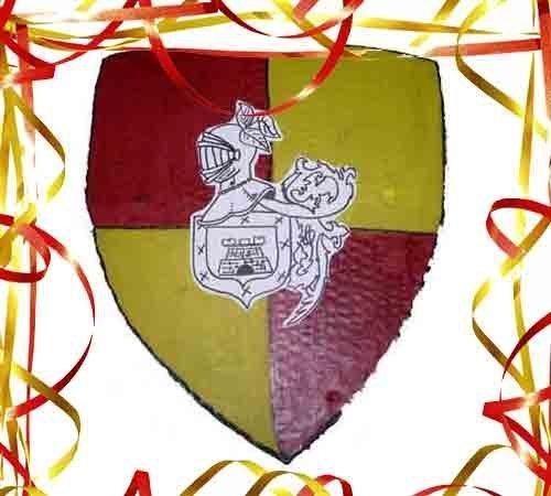 Escudo de caballero. Manualidades infantiles para Carnaval