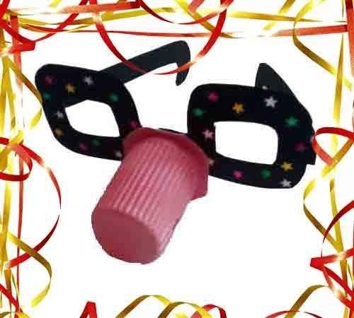 Gafas de payaso. Manualidades infantiles para Carnaval