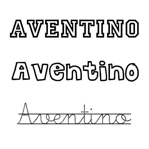 Aventino. Nombres para niños