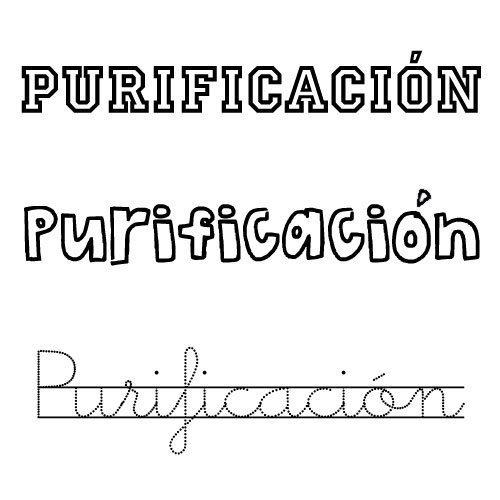 Purificación. Nombres para niñas