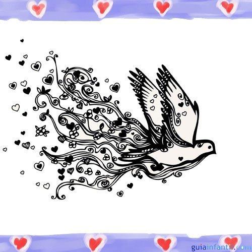 Paloma de la Paz. Imágenes de amor para pintar con niños