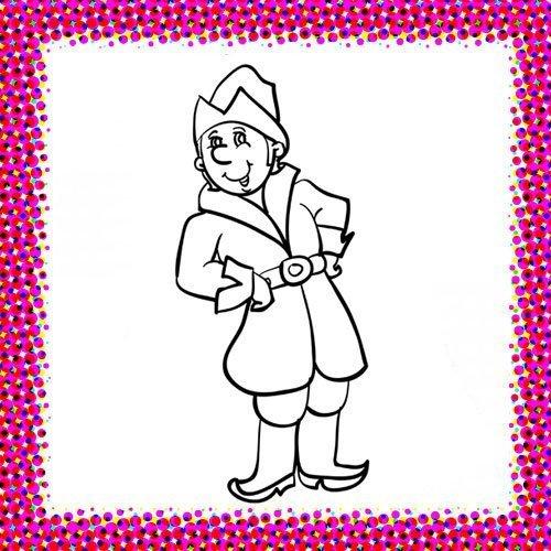 Disfraz de noble medieval para colorear con niños