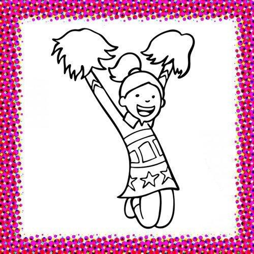Disfraz de animadora para colorear con niños