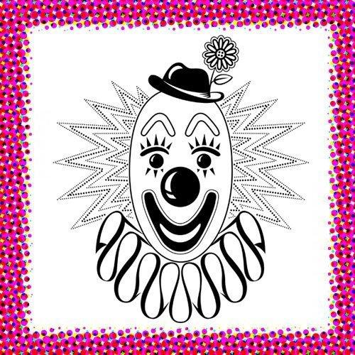 Cara de payaso. Dibujo de Carnaval para niños