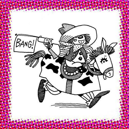 Payaso a caballo. Dibujos de Carnaval para niños