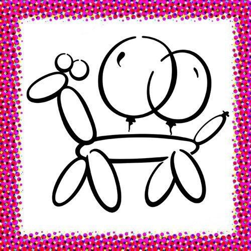 Globos de fiesta. Dibujos de Carnaval para niños