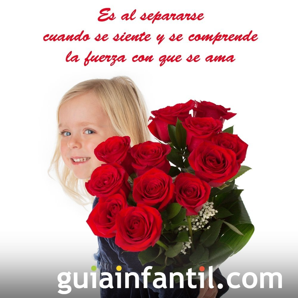 Niña con rosas. Frases de amor para motivar