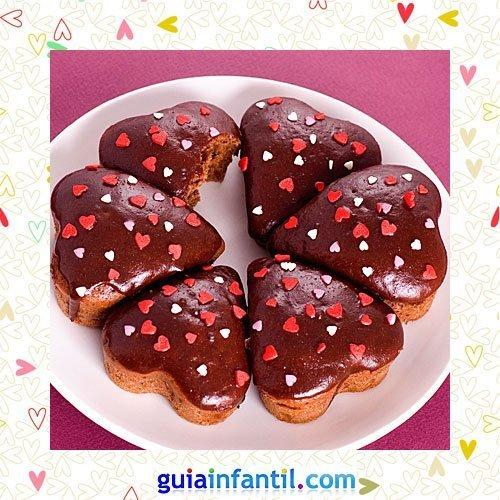 Muffins de chocolate. Recetas dulces de corazón