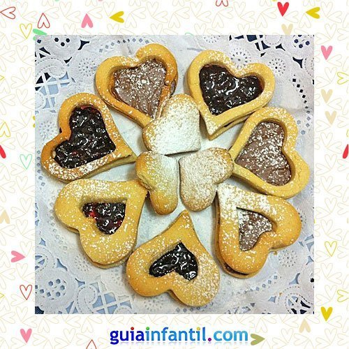 Galletas linzer. Recetas dulces de corazón