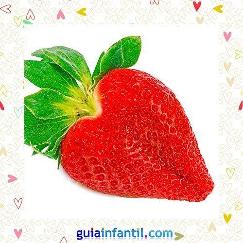 Fresas en corazón. Recetas dulces para niños