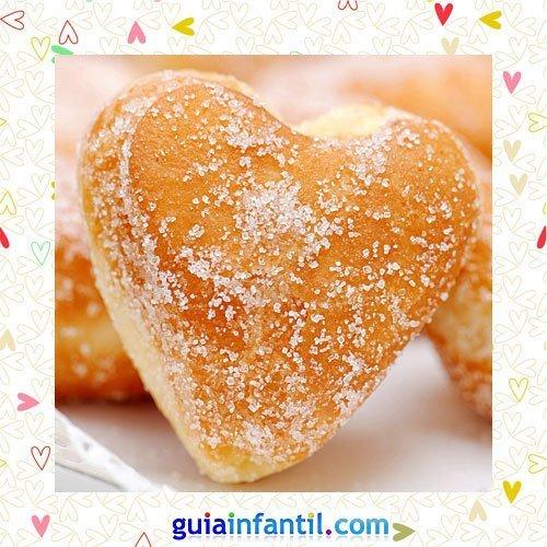 Donuts con azúcar. Recetas dulces de corazón